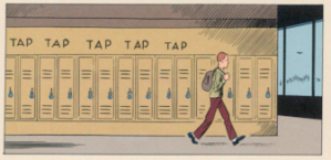 Clowes does regular high school comic strip too.