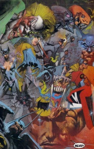 JUDGMENT ON GOTHAM: Bisley imagines Batman's rogues gallery.