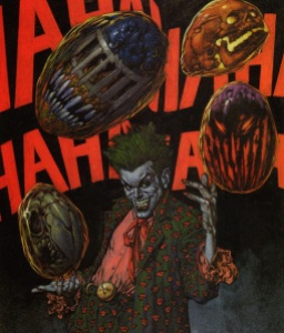 Glenn Fabry paints the Joker and friends for DIE LAUGHING.