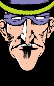 A self-reflected Riddler. Art by Bernie Mireault and Matt Wagner.