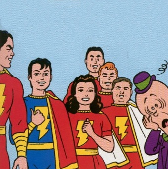 Mxy isn't sure what to make of the Marvel Family, art by Jaime Hernandez.