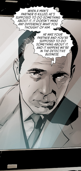 Bogie offers some advice.